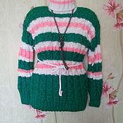Свитеры ручной работы. Ярмарка Мастеров - ручная работа Полосатый свитер. Handmade.