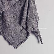 Бактус вязаный шаль платок