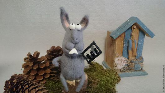 """Игрушки животные, ручной работы. Ярмарка Мастеров - ручная работа. Купить Заяц """"знатный зверюга""""игрушка. Handmade. Заяц игрушка"""