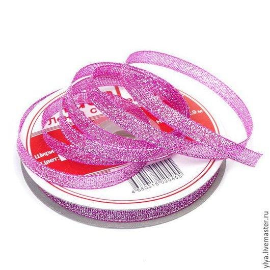 Шитье ручной работы. Ярмарка Мастеров - ручная работа. Купить Лента с люрексом.. Handmade. Розовый, лента, лента декоративная, ленты
