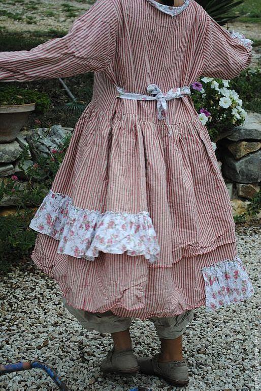 Платья ручной работы. Ярмарка Мастеров - ручная работа. Купить Кантри , выполненно из  домашнего льна, стиль БоБО. Handmade.