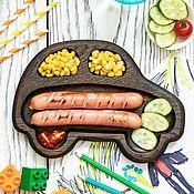 """Посуда handmade. Livemaster - original item Тарелка """"Машинка"""". Handmade."""