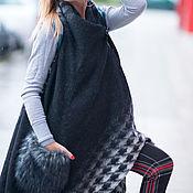 Одежда handmade. Livemaster - original item Vest wool Long asymmetric vest. Handmade.