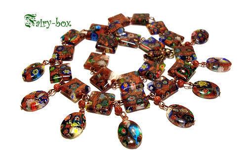 """Колье, бусы ручной работы. Ярмарка Мастеров - ручная работа. Купить Ожерелье """"Kleo"""". Handmade. Колье с авантюрином, колье с подвесками"""
