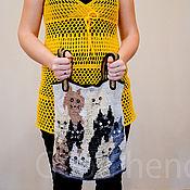 Сумки и аксессуары handmade. Livemaster - original item Knitted beige meow bag. Handmade.