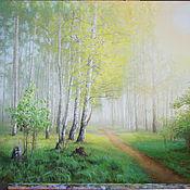 Картины и панно ручной работы. Ярмарка Мастеров - ручная работа Нежность зелени (пейзаж). Handmade.