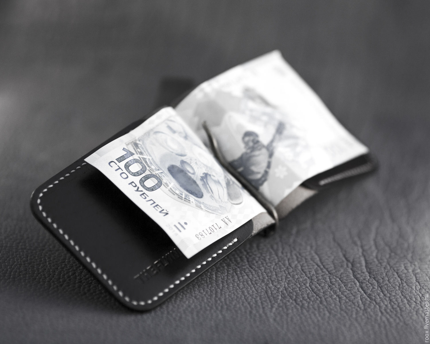 Wallet with money clip crocodile leather – shop online on ...