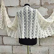 Аксессуары handmade. Livemaster - original item Stole Openwork White Ivory Lace Scarf. Handmade.