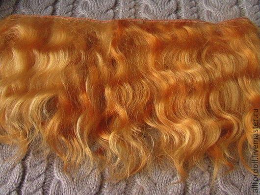 Куклы и игрушки ручной работы. Ярмарка Мастеров - ручная работа. Купить Волосы для кукол (золотисто-рыжий) Ангорская коза. Handmade.