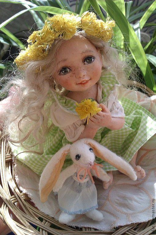Коллекционные куклы ручной работы. Ярмарка Мастеров - ручная работа. Купить Василиса. Handmade. Салатовый, миниатюра