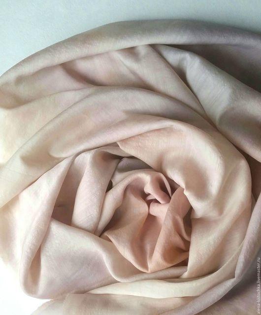 Шарфы и шарфики ручной работы. Ярмарка Мастеров - ручная работа. Купить Шарф шерсть-шелк Крем-брюле батик. Handmade.