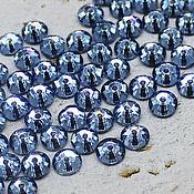 Материалы для творчества handmade. Livemaster - original item Crystals: Rhinestones-sequins Sapphire 5h5 mm sewn 10 PCs. Handmade.