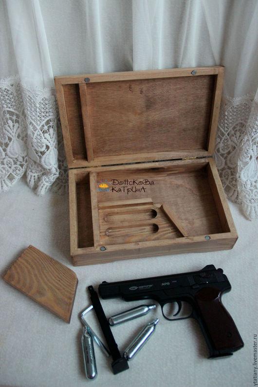 Персональные подарки ручной работы. Ярмарка Мастеров - ручная работа. Купить Короб для пневматического пистолета. Handmade. Подарок мужчине