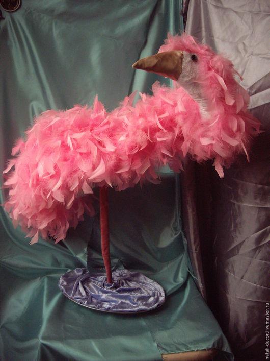 """Статуэтки ручной работы. Ярмарка Мастеров - ручная работа. Купить интерьерная кукла """"Фламинго"""". Handmade. Розовый, анималистика"""