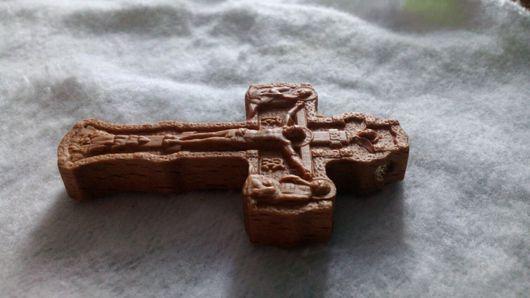 Кулоны, подвески ручной работы. Ярмарка Мастеров - ручная работа. Купить Крест нательный резной. Handmade. Бук, крестик, бук