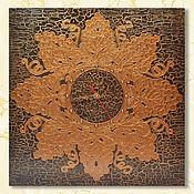 Часы классические ручной работы. Ярмарка Мастеров - ручная работа Настенные часы с растительным узором в бронзе в виде виноградной лозы. Handmade.