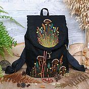 Сумки и аксессуары handmade. Livemaster - original item Backpack with embroidery
