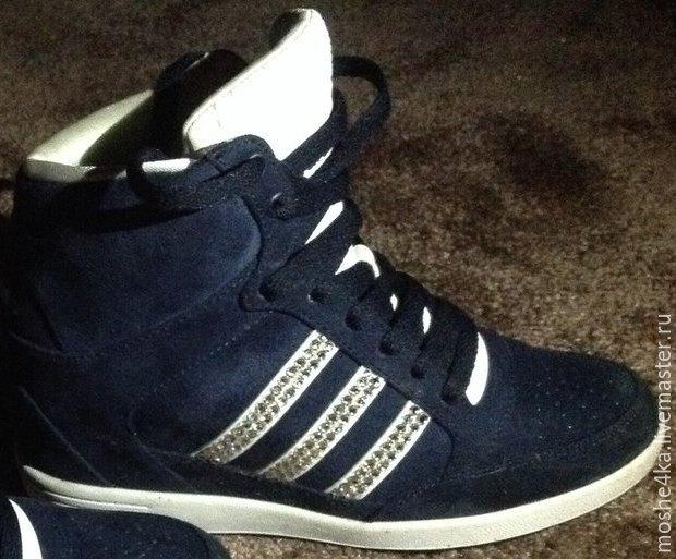 Кроссовки Adidas с кристаллами Swarovski. Екатерина Куприянова. Интернет- магазин d413ef6f120