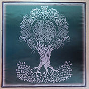 Фен-шуй и эзотерика handmade. Livemaster - original item Altar cloth TREE of LIFE, Atlas-satin, printing fabric. Handmade.