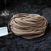 Шнуры ручной работы. Ярмарка Мастеров - ручная работа Шнур кожаный ленточный Натуральный цвет 4х3,5 мм. Handmade.