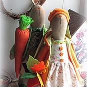 Куклы и игрушки ручной работы. Ярмарка Мастеров - ручная работа Парочка осенних заек. Handmade.