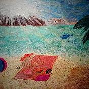 """Картины ручной работы. Ярмарка Мастеров - ручная работа Картины: """"На море"""". Handmade."""