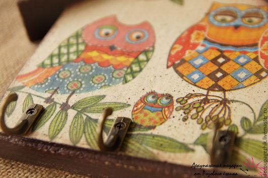 вешалка детская ключница домик купить спб ключница в прихожу вешалка настенная совы фото ключница фото ключница деревянная декупаж домик handmade home decor