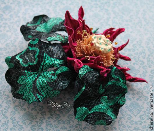 """Цветы ручной работы. Ярмарка Мастеров - ручная работа. Купить Лотос из кожи """"Карнавал"""". Handmade. Разноцветный, цветок из кожи"""