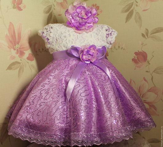 Одежда для девочек, ручной работы. Ярмарка Мастеров - ручная работа. Купить Пышное платье. Handmade. Фиолетовый, Праздничный наряд