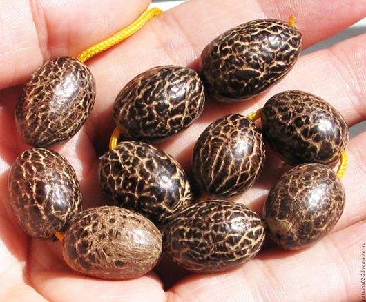 Для украшений ручной работы. Ярмарка Мастеров - ручная работа. Купить Крапчатые бусины из семян дерева Бодхи. Handmade. Бежевый