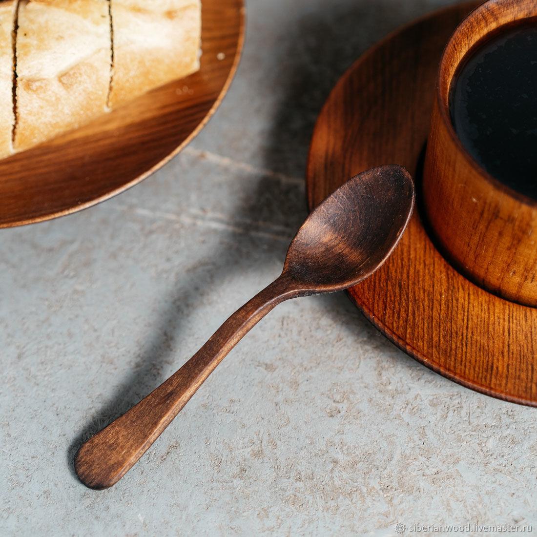 Wooden teaspoon of Siberian Cedar kitchenware of wood #L26, Dinnerware Sets, Novokuznetsk,  Фото №1
