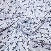 Материалы для творчества ручной работы. Ярмарка Мастеров - ручная работа Батист  хлопковый  ЗЕБРЫ на белом CHLOE. Handmade.