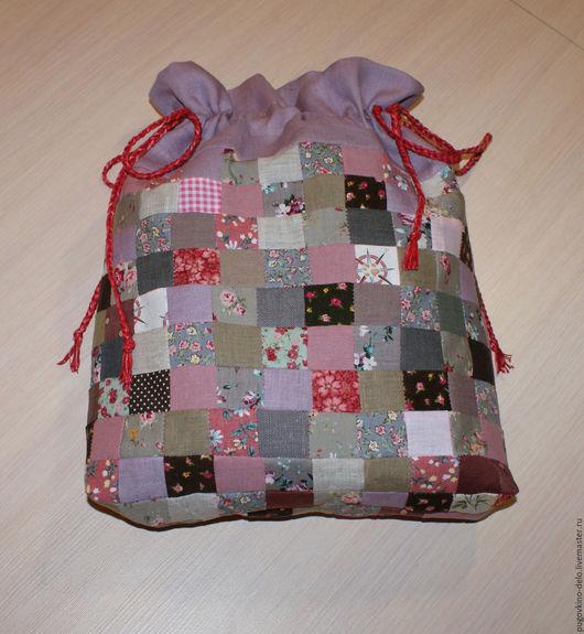 Подарочная упаковка ручной работы. Ярмарка Мастеров - ручная работа. Купить Лоскутный мешочек из натуральных тканей. Handmade. Лоскутный мешочек