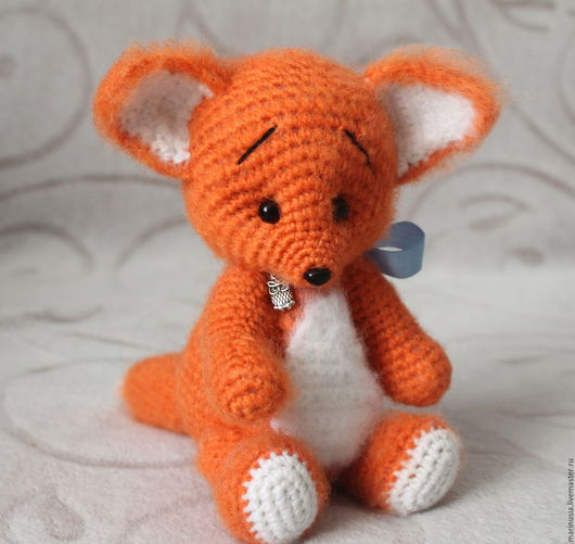 Куклы и игрушки ручной работы. Ярмарка Мастеров - ручная работа. Купить Лисенок Рыжик(вязаная игрушка). Handmade. Рыжий