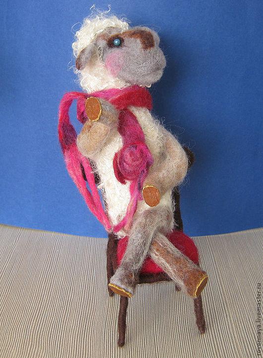 Коллекционные куклы ручной работы. Ярмарка Мастеров - ручная работа. Купить Овечка Серафима. Handmade. Валяние на каркасе, овечка