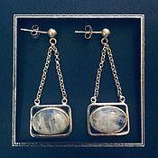 Украшения handmade. Livemaster - original item Earrings with moonstone. Handmade.