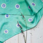 Аксессуары ручной работы. Ярмарка Мастеров - ручная работа Лаванда - шелковый платок с ручной росписью. Handmade.