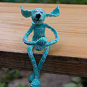 """Куклы и игрушки ручной работы. Ярмарка Мастеров - ручная работа Вязаная игрушка """"Голубой щенок"""". Handmade."""