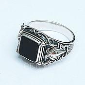 Украшения handmade. Livemaster - original item Silver mens ring with agate. Handmade.