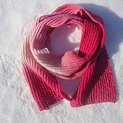 Аксессуары handmade. Livemaster - original item Scarf pink-white. Handmade.