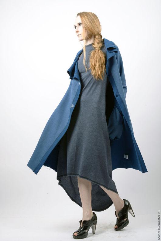 """Пиджаки, жакеты ручной работы. Ярмарка Мастеров - ручная работа. Купить Кардиган """"Тина"""". Handmade. Синий, футер, красота, на прогулку"""