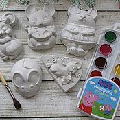Раскраски ручной работы. Ярмарка Мастеров - ручная работа Гипсики - фигуры для раскрашивания. Handmade.