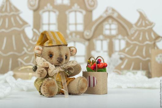 Винтажный миниатюрный мишка Тедди `Письмо из детства`