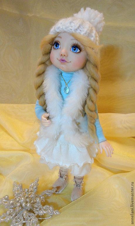 """Коллекционные куклы ручной работы. Ярмарка Мастеров - ручная работа. Купить Куколка """" Зимнее чудо """". Handmade. Белый"""