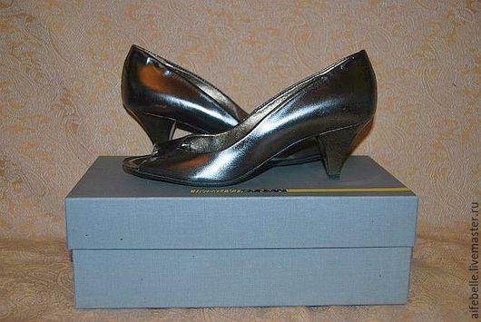 Винтажная обувь. Ярмарка Мастеров - ручная работа. Купить Туфли-лодочки женские коричневая бронза р.36 кожа. Handmade.