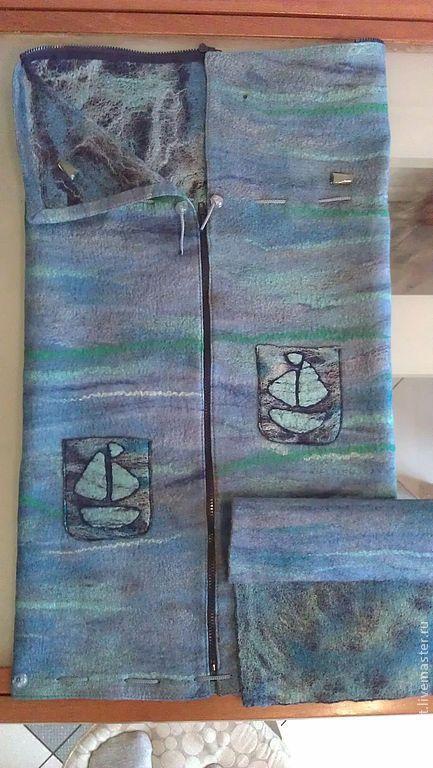 Для новорожденных, ручной работы. Ярмарка Мастеров - ручная работа. Купить валяный осенний конверт - трансформер для новорождённого из шерсти. Handmade.