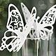 карточки бабочки на бокал Бабочки - любовь и радость, вечная жизнь, супружеское счастье. Две бабочки символизируют встречу супругов.