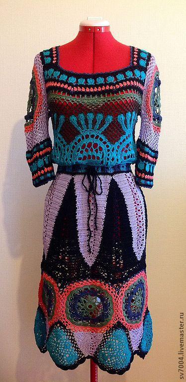 """Платья ручной работы. Ярмарка Мастеров - ручная работа. Купить Платье """" перуанские мотивы """". Handmade. Платье летнее"""