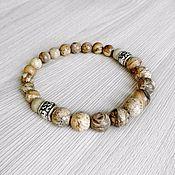 Украшения handmade. Livemaster - original item Men`s bracelet made of natural landscape Jasper. Handmade.
