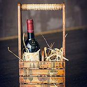 """Для дома и интерьера ручной работы. Ярмарка Мастеров - ручная работа Короб  для вина """"Италия""""  Продано. Handmade."""